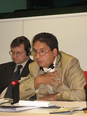 Nabil M'Rad, President of Coopérer pour Entreprendre, speaks at the EU's Regional Policy Open Days in Brusssels in October 2007